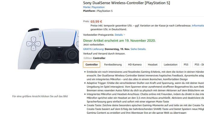 PS5 Controller bestellbar